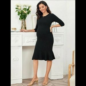 NWT Black Maternity Dress